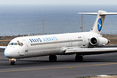 Rare visit of this old MD-83 of the Ukrainian company Bravo Airways, f...