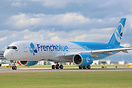 The first Airbus A350 for French Blue (F-HREU) departing Manchester af...