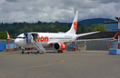 Lion Air's first 737-8 MAX sitting in the 737 MAX flightline getting p...