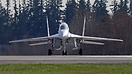 Head on shot of the mig 29 UB Fulcrum ready to take off