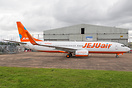 Fresh out of Airbourne Colours at East Midlands is Jeju Air latest 737...