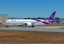 Thai Airways first Boeing 787-9 on her first flight