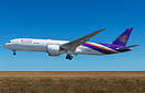 Thai Airways first Boeing 787-9 Dreamliner on her first flight