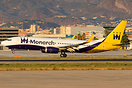 One of the last flights of this 737 operating behalf Monarch
