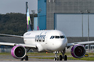 New A320 Neo from Volaris company on departure to a test flight