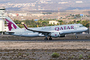 Strange visit of this A320 from Qatar to the airport of TFS, by the un...