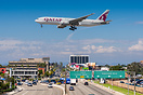 Short final for the northern runway 25R, overflying Sepulveda Blvd.