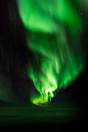 Aurora Borealis (northern lights) near Greenland as seen from 34.000 f...
