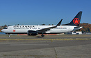 Air Canada's first 737-8 MAX in its new livery