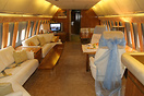 Cabin view of this executive aircraft, former Imperial Palace Air. The...