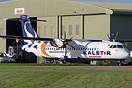 Recent arrival into Kemble is this ATR72 of Kalstar Aviation of Indone...