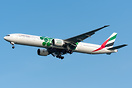 Carrying Dubai Expo2020 colours, pictured arriving from Brisbane