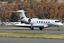 Gulfstream G500 returning from a test flight