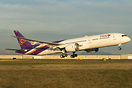 Thai Airways Boeing 787-9 departing Paine Field on it's delivery fligh...