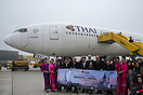 Inaugural flight of Thai Airways to Vienna!
