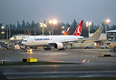 Turkish Airlines Cargo's first 777 freighter on her delivery flight fr...