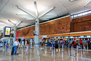 Terminal of Roland Garros Airport on Reunion island