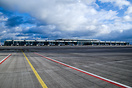 Overview of the still to be opened Airport Terminal of Berlin's BER Ai...
