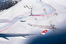 Special mission for SWISS' first CS300 during the Lauberhorn ski races