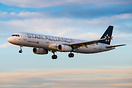Painted in Star Alliance colours in January 2018.