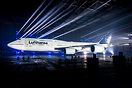 Presentation of the new Lufthansa colour scheme inside the Airbus A380...