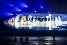 Presentation of the new colour scheme inside the Airbus A380 hangar at...