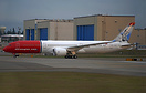 Norwegian Air UK's latest Boeing 787-9 dreamliner featuring tail paint...