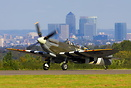ML407 Landing at Biggin Hill with London Docklands skyline in the back...