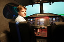 One of the Cabair student pilots ready for a flight in one of the flig...