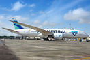 Air Austral visiting Belem bringing passengers to start a cruise throu...