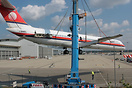 Being lifted by a crane and moved from Milan Malpensa to go on display...