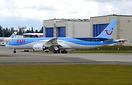 TUI Airlines' latest Boeing 787-9 Dreamliner G-TUIL returning to parki...