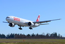 Swiss International Air Lines latest Boeing 777-300ER HB-JNJ landing o...