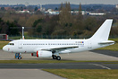 Airbus A319 ex- P4-YAS of Air Astana has recently been painted all whi...
