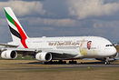 "Special livery on this A380 of Emirates ""Year of Zayed 2018 - Celebrat..."