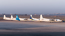 Collection of Fokker 50s in various color scheme (some of them of the ...