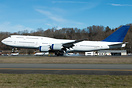Test frame arriving back at Boeing Field from Kelly Field