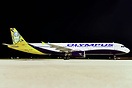 First Olympus aircraft to feature titles and logo. Ex Monarch G-MARA.