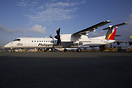 This Q400 is operated by Air Philippines on behalf of Philippine Airli...