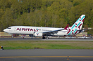 The first Boeing 737 Max 8 for Air Italy touches down at Boeing field,...