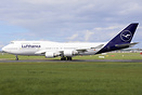 First Lufthansa B747-400 to be painted in the new liver by IAC at Dubl...