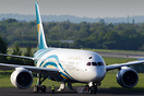 Oman Air Boeing 787-8 A4O-SZ in preparation for departure following a ...