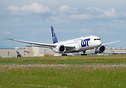 LOT's second 787-9 long haul dreamliner rotating on her delivery fligh...