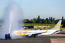 Primera Boeing 737-800, YL-PSH, operated the inaugural flight from Bir...
