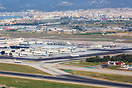 Overview PMI airport with Palma de Mallorca in the background