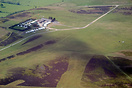 An aerial view of Long Mynd gliding site.