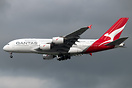 The first Qantas A380 to carry the airline's new colour scheme