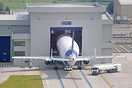 A Beluga parked at the loading facility at Airbus UK, Hawarden Airport...