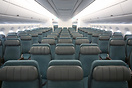 The all new economy class fitted to Cathay Pacific's A350-1000, design...