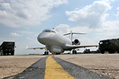 The new RAF Sentinel R1 displays the airborne stand-off radar (ASTOR) ...